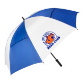 62 Inch Royal/White Umbrella-Bear Club