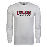 White Long Sleeve T Shirt-Arched Union College