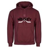 Maroon Fleece Hoodie-Hockey Sticks