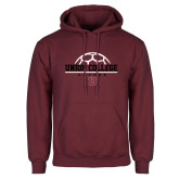 Maroon Fleece Hoodie-Soccer Ball on Top