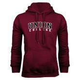 Maroon Fleece Hoodie-Arched Union College