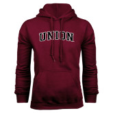 Maroon Fleece Hoodie-Arched Union