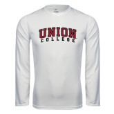 Syntrel Performance White Longsleeve Shirt-Arched Union College