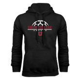 Black Fleece Hoodie-Soccer Ball on Top