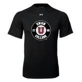 Under Armour Black Tech Tee-Official Logo