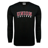 Black Long Sleeve TShirt-Arched Union College