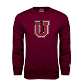 Maroon Fleece Crew-U