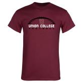Maroon T Shirt-Wide Football Design