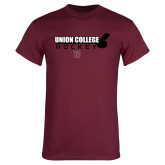 Maroon T Shirt-Hockey Sticks