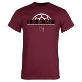 Maroon T Shirt-Soccer Ball on Top