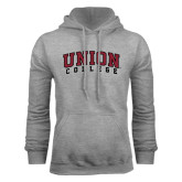 Grey Fleece Hoodie-Arched Union College