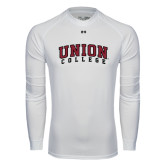 Under Armour White Long Sleeve Tech Tee-Arched Union College