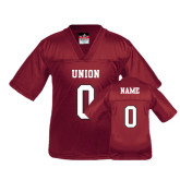 Youth Replica Maroon Football Jersey-Personalized