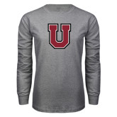 Grey Long Sleeve T Shirt-U