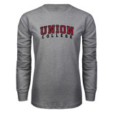 Grey Long Sleeve T Shirt-Arched Union College