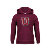 Youth Maroon Fleece Hoodie-U