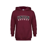 Youth Maroon Fleece Hoodie-Hockey