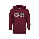 Youth Maroon Fleece Hoodie-Football