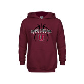Youth Maroon Fleece Hoodie-Graphics in Basketball
