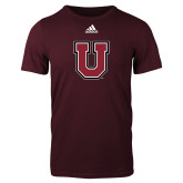 Adidas Maroon Logo T Shirt-U