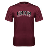 Performance Maroon Tee-Arched Union College