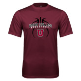 Performance Maroon Tee-Graphics in Basketball