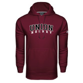 Under Armour Maroon Performance Sweats Team Hoodie-Hockey