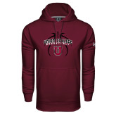 Under Armour Maroon Performance Sweats Team Hoodie-Graphics in Basketball