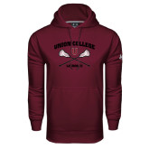 Under Armour Maroon Performance Sweats Team Hoodie-Lacrosse Sticks