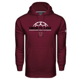 Under Armour Maroon Performance Sweats Team Hoodie-Soccer Ball on Top