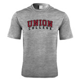 Performance Grey Heather Contender Tee-Arched Union College