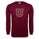 Maroon Long Sleeve T Shirt-U