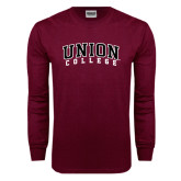 Maroon Long Sleeve T Shirt-Arched Union College