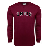 Maroon Long Sleeve T Shirt-Arched Union