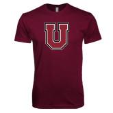 Next Level SoftStyle Maroon T Shirt-U