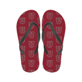 Ladies Full Color Flip Flops-U
