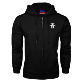 Black Fleece Full Zip Hoodie-Official Logo