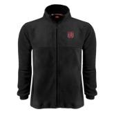 Fleece Full Zip Black Jacket-U