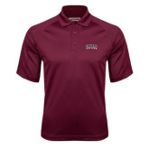 Maroon Textured Saddle Shoulder Polo-Arched Union College
