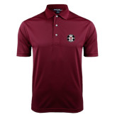 Maroon Dry Mesh Polo-Official Logo