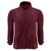Fleece Full Zip Maroon Jacket-Official Logo