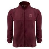 Fleece Full Zip Maroon Jacket-U