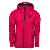Ladies Dark Fuchsia Waterproof Jacket-Official Logo
