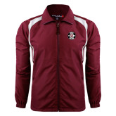 Colorblock Maroon/White Wind Jacket-Official Logo
