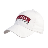 Union White Heavyweight Twill Pro Style Hat-Arched Union College