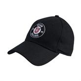 1d214fd2370 Black Heavyweight Twill Pro Style Hat-Official Logo