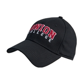 Union Black Heavyweight Twill Pro Style Hat-Arched Union College