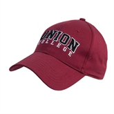 Maroon Heavyweight Twill Pro Style Hat-Arched Union College