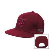 Maroon Flat Bill Snapback Hat-U
