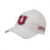 White OttoFlex Unstructured Low Profile Hat-U
